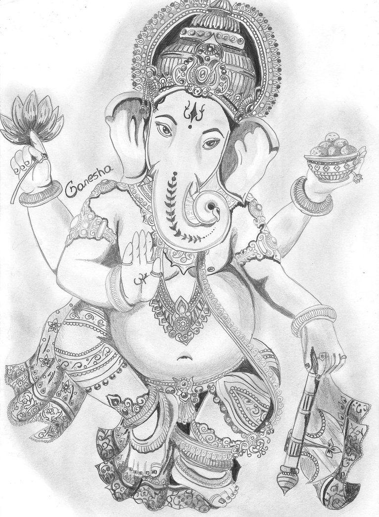 Ganesha by yourslucifer | Lord ganesha paintings