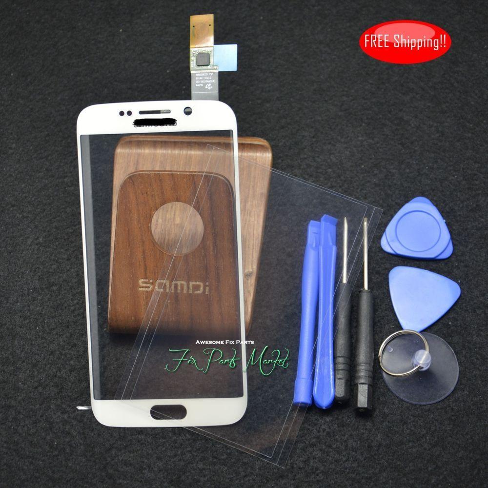 White New Front Screen Touch Panel Digitizer For Samsung Galaxy S6 Edge W Oca Samsung Samsung Galaxy S6 Edge Samsung Galaxy S6 Touch Panel