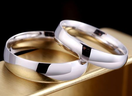 d9239fed873c6a Engravable 999 Pure Silver Rings Sterling Silver Wedding Bands ...