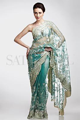 Ivory Shimmer Saree | Satya Paul