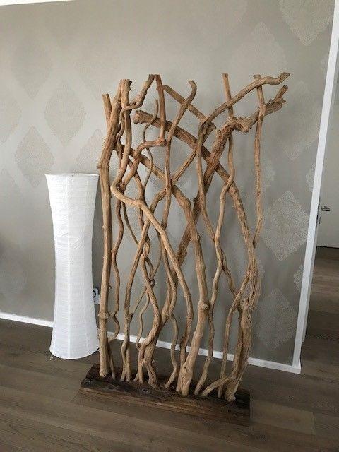 Deko Raumteiler Holz Auf Schiffsholz Braun Neuwertig 170x100 Buro