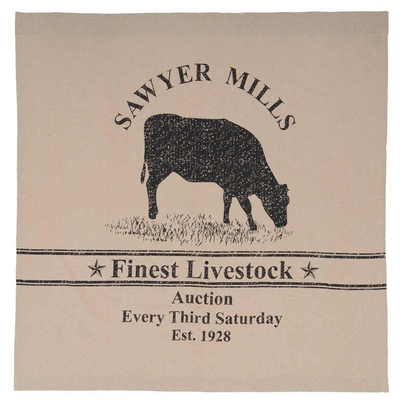 Sawyer Mill Cow Shower Curtain By Vhc Brands Shower Curtains