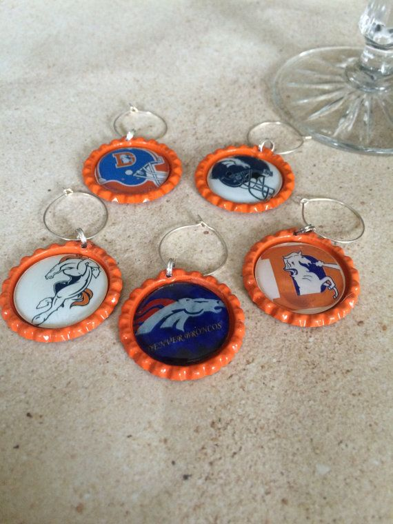 Check out Denver Broncos wine glass charms in my Etsy shop https://www.etsy.com/listing/263846588/denver-broncos-wine-charms-denver #DenverBroncos #Wineglasscharms