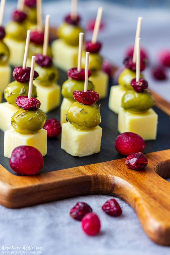 Photo of Cranberry Olive Cheese Skewers Recipe – Appetizer Addiction