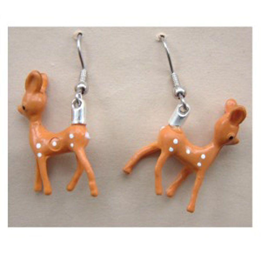 Funky BABY REINDEER EARRINGS Miniature Bambi Deer Vintage Charm Costume Jewelry  | eBay #funkyreindeer