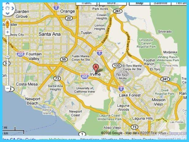 awesome Map of Irvine California | Irvine california, Irvine ...