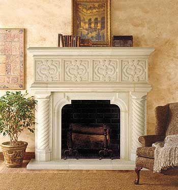 Majorca With Images Stone Fireplace Mantel Cast Stone