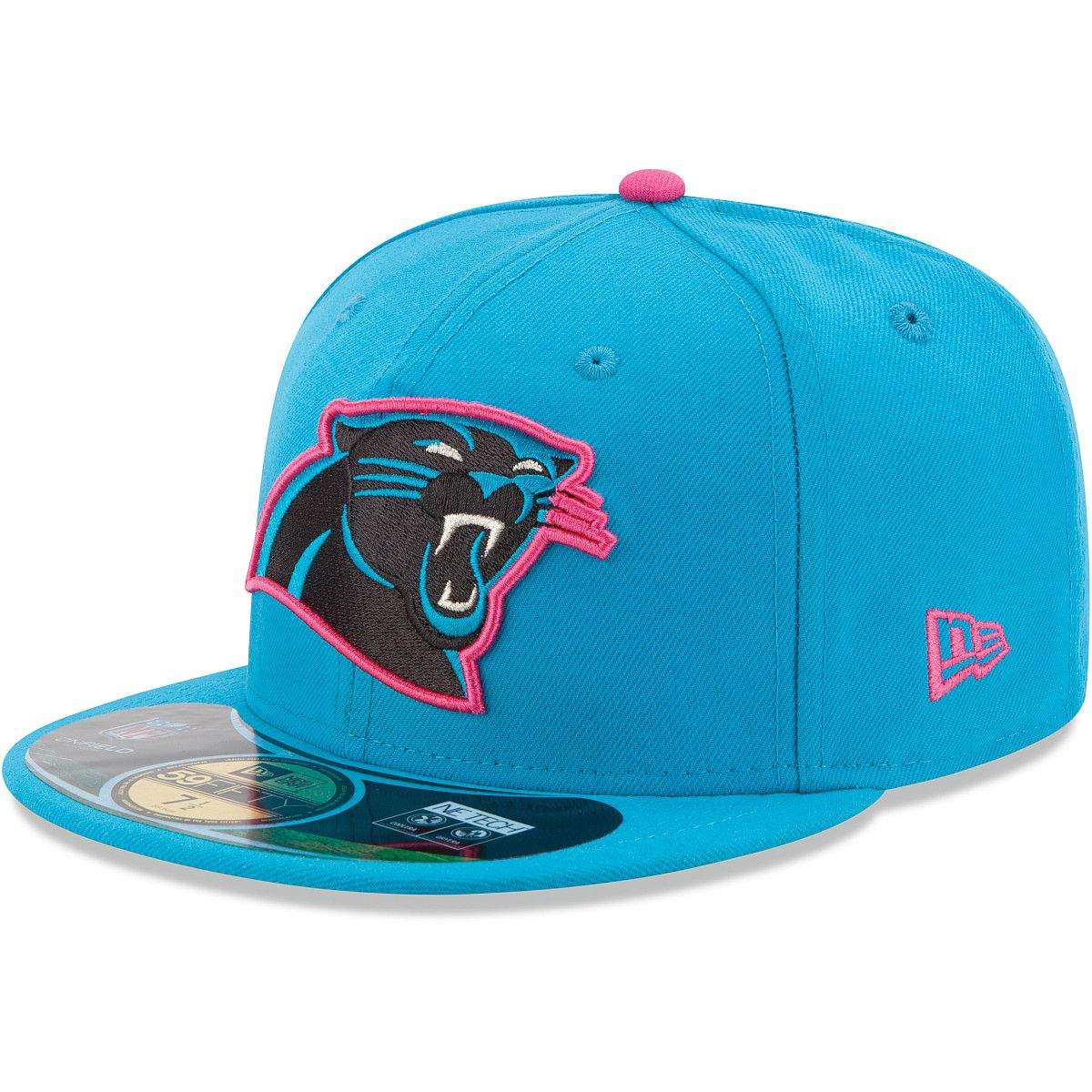 4570e917b New Era Men s Carolina Panthers Breast Cancer Awareness Official On Field  59FIFTY Fitted Cap - SportsAuthority.com