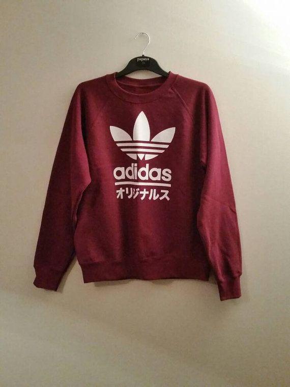 quality design 80301 0634e unisex customised adidas sweatshirt t shirt grunge festival fashion