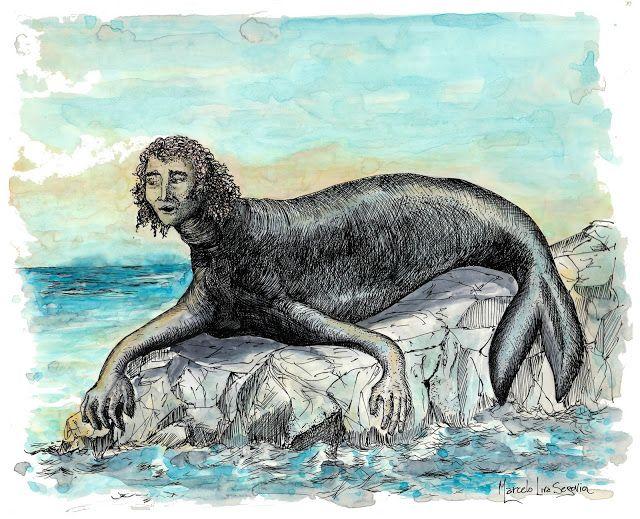 EL PINCOY ser mitológico de Chiloé.  Posee un cuerpo de foca color acerado brillante y de gran tamaño. Tiene en su extremidad superior, una cabeza humana. Quienes lo han visto, lo describen como poseedor de un rostro masculino de formas muy bellas; ojos profundos y labios sensualmente varoniles, así como una hermosa y respingada nariz. Su cabellera se describe con ondulaciones, larga y dorada, su cuello es grueso y las aletas y cola se ven más grandes que el de una foca normal. Algunas…