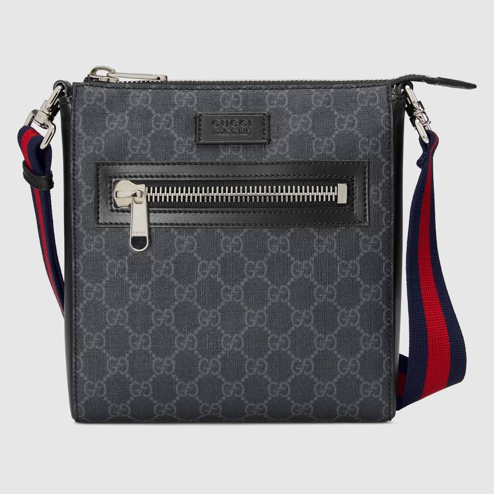 f7248bed256e Shop the GG Supreme small messenger bag by Gucci. First used in the 1970s,