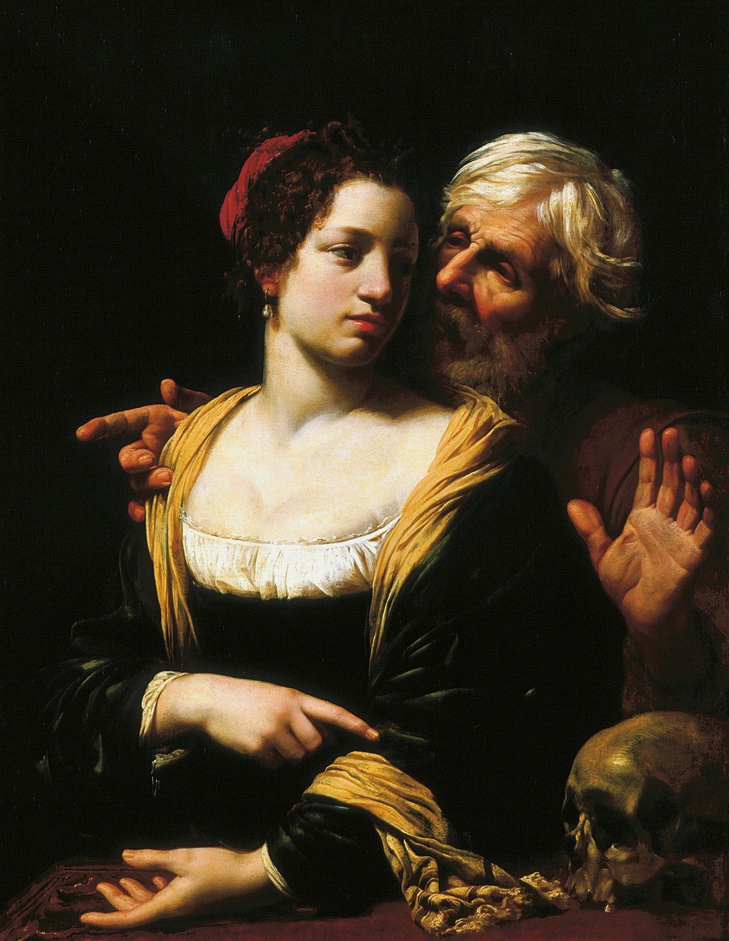 Simon Vouet The ill matched couple Vanitas c 1621