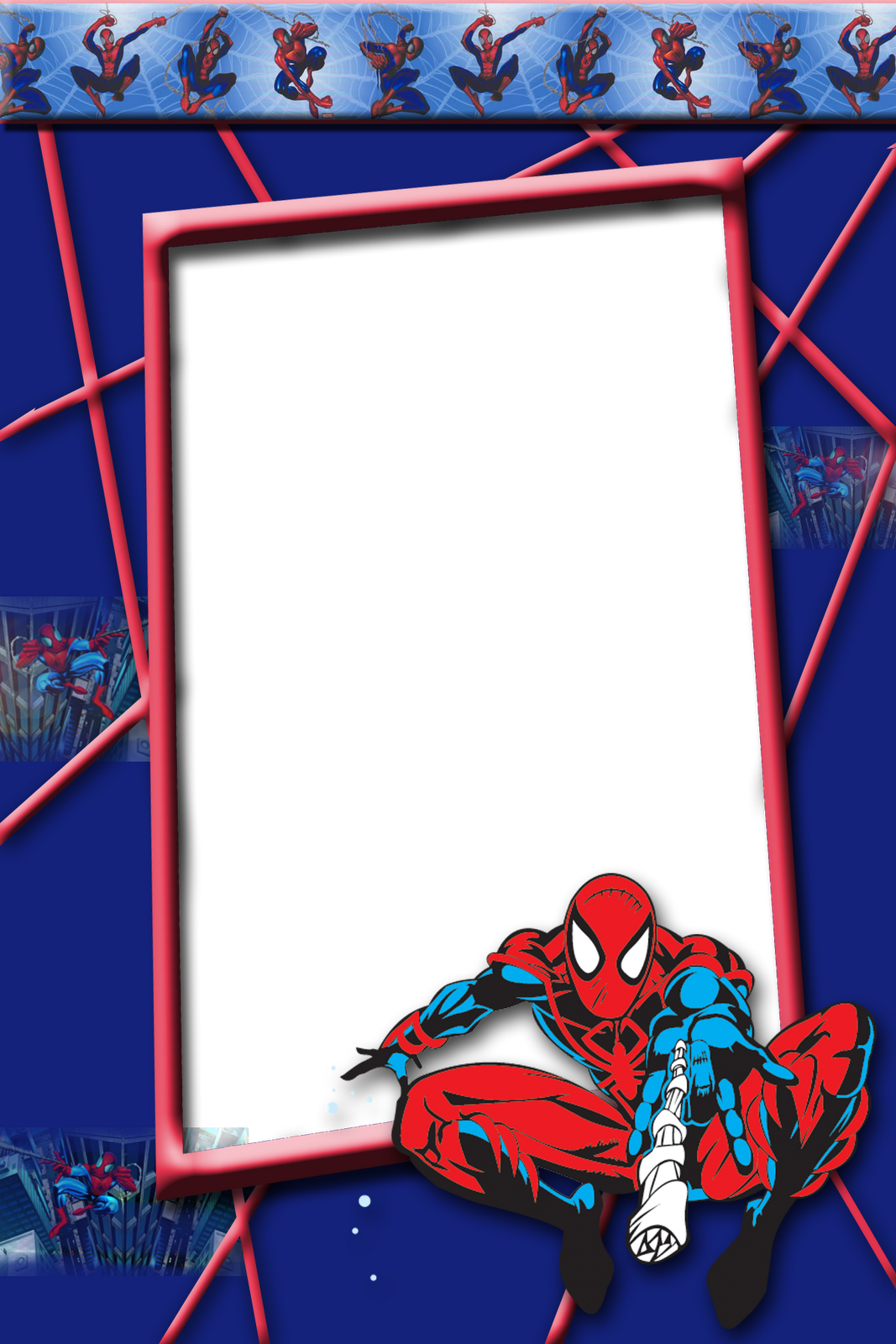 Pin by Dede paper on paper-party set:superhero   Frame, Spiderman ...