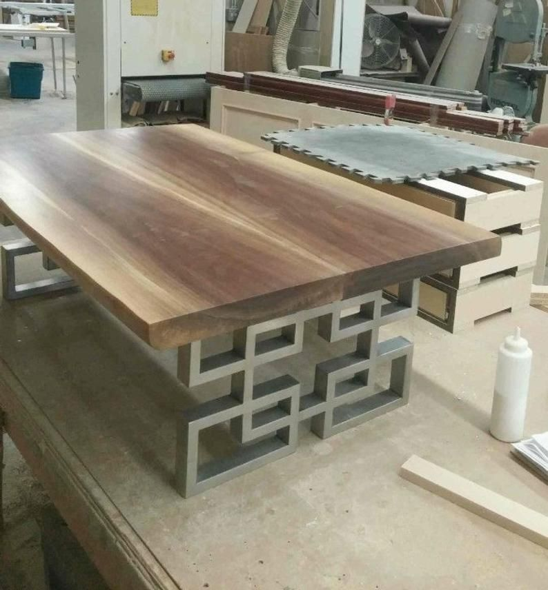 28 Dining Table Leg Base Width 24 Height 26 30 Set Of 2 With Images Dining Table Legs Welded Furniture Metal Furniture
