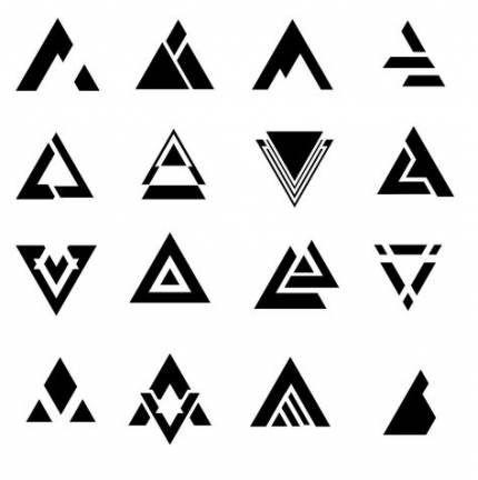 19 Ideas For Tattoo Geometric Design Symbols Triangles #tattoo