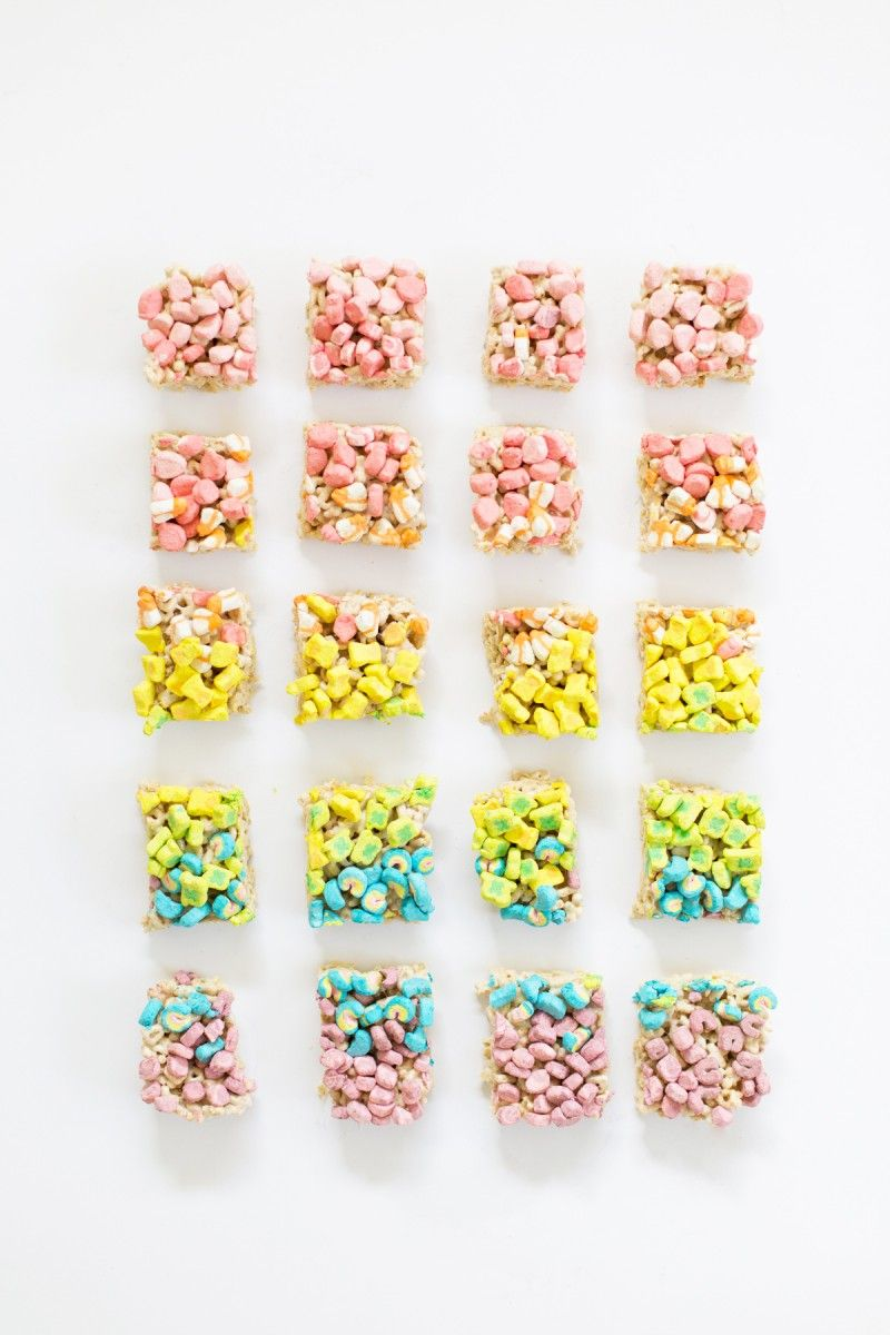 Lucky Charms Marshmallow Treats » Lovely Indeed #marshmallowtreats