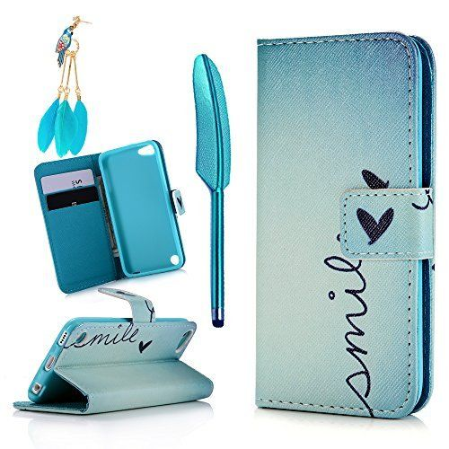 IPod Case Touch 5 MOLLYCOOCLE Stand Wallet Purse Credit Card ID