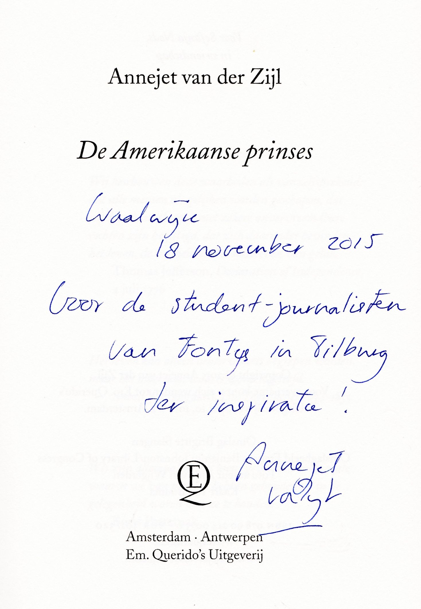 Annejet van der Zijl (lezing openbare bibliotheek Waalwijk 18-11-2015)