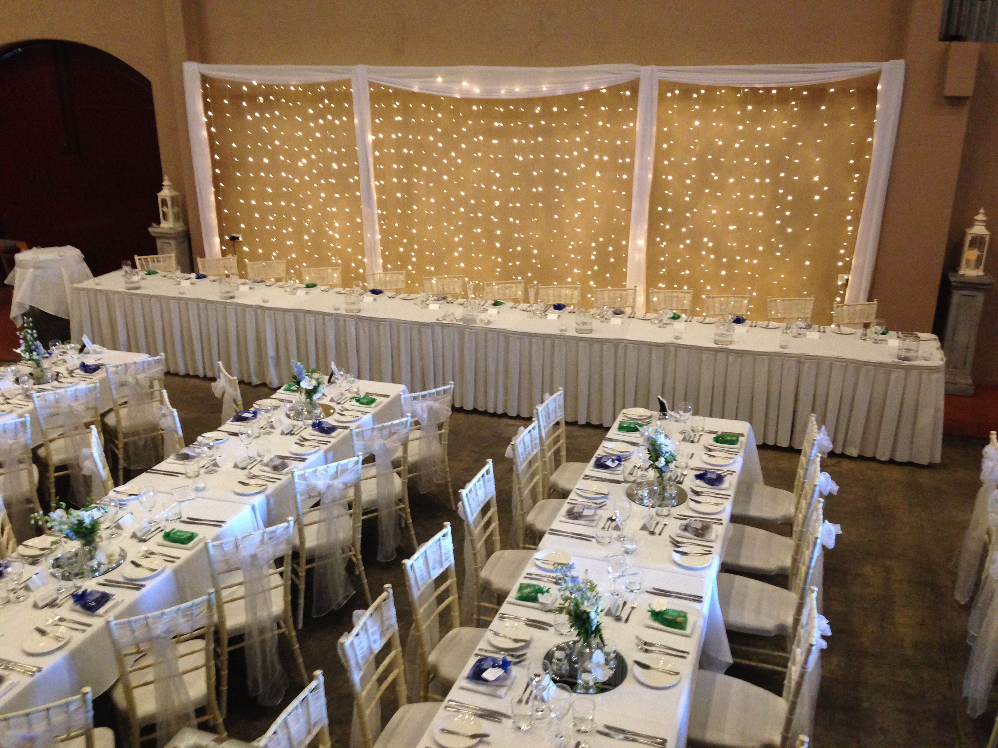 Fairy Lights Wall Of Wedding Decor Gorgeous