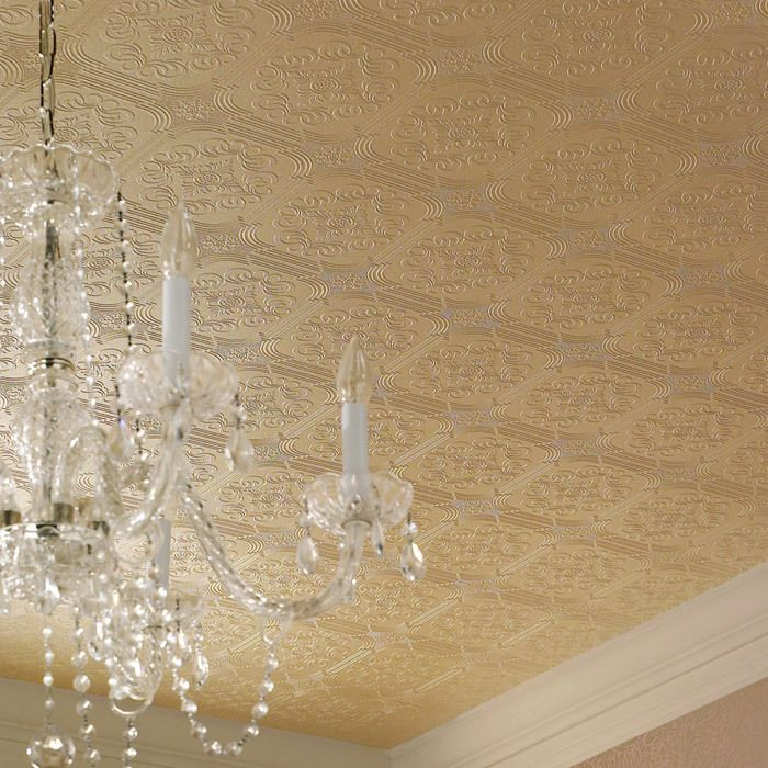 Textured Wallpaper On The Ceiling