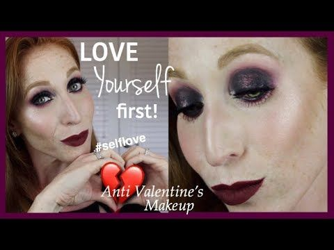 Anti Valentines Day Makeup Tutorial Allison Jacobs Youtube