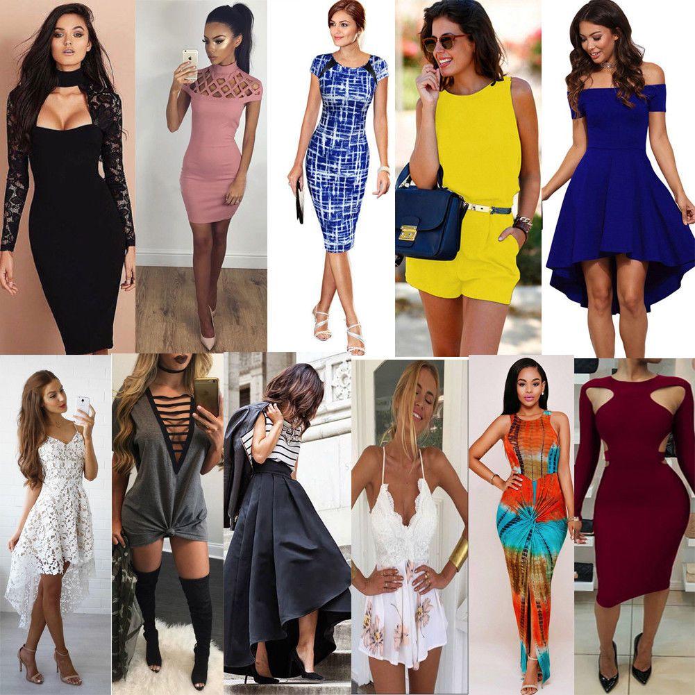 Women summer short maxi dress evening cocktail party beach dresses