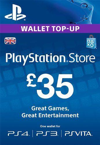 Psn Card 35 Gbp Wallet Top Up Psn Code Uk Account Sony Http