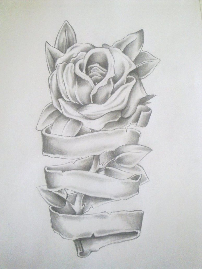 Find This Pin And More On Tattoos Rose Tattoo Drawing