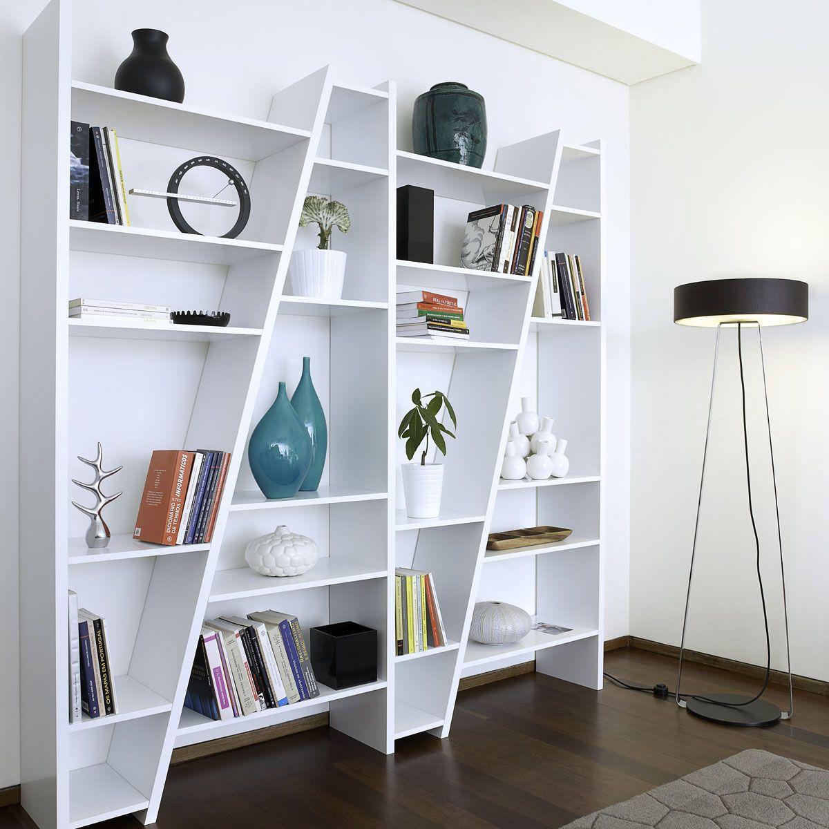 Etagère bibliothèque delta blanche