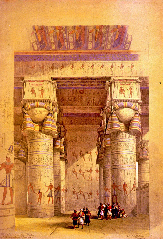 Dendera original painting by David Roberts