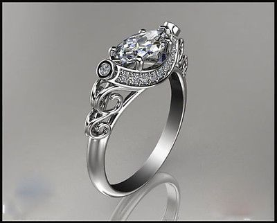 Sterling-Silver-Marquise-Cut-Diamond-Solitaire-Engagement-Ring-2-44-Carat