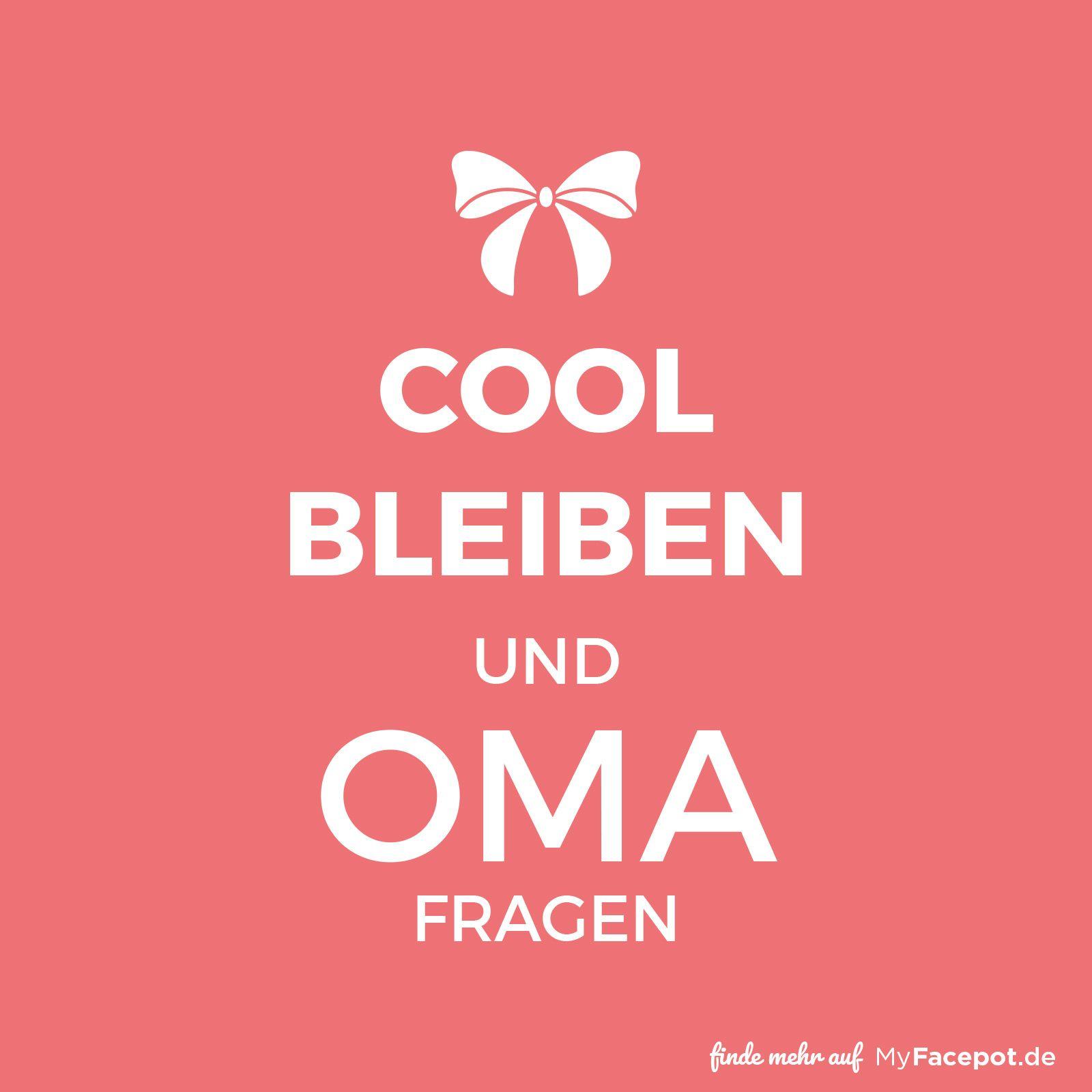 Cool bleiben und Oma fragen Coole Geschenke für coole Omas machen ...