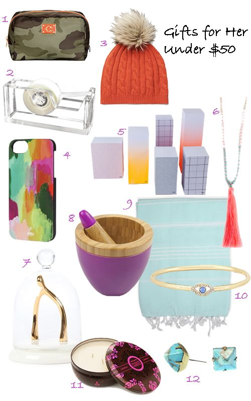 Gift Guide 12 Gifts For Her Under 50 Stylecarrot
