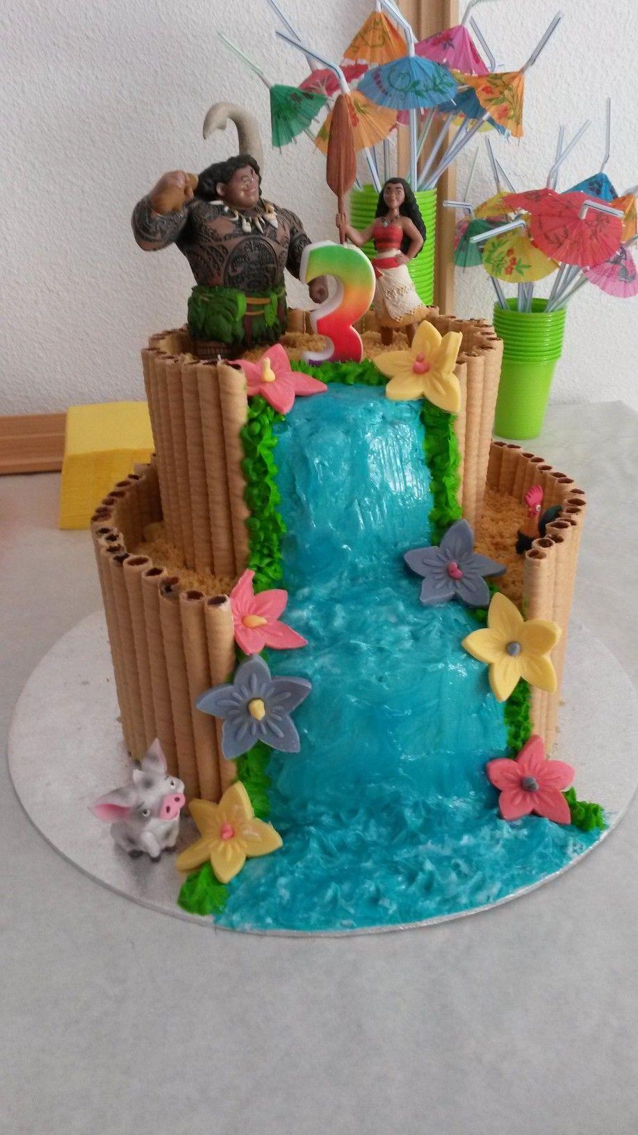 Gâteau vaiana | Lily\'s Kitchen - Pâtisserie créative | Pinterest