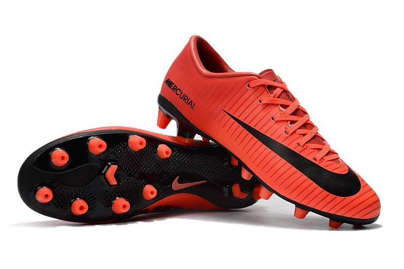 4699c14843 NIKE SOCCER CLEATS CLEARANCE NIKE MERCURIAL VICTORY VI AG-PRO RED BLACK