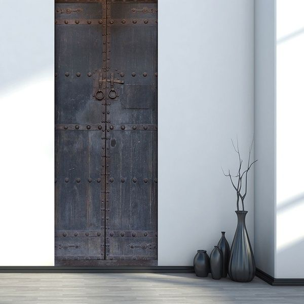 2Pcs / Set Old Wood Door Art Decor Home Creative DIY 3D Door …