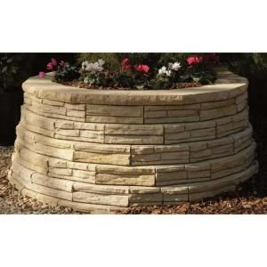 12 In Natural Impressions Flagstone Concrete Wall Block 86935 At The Home Depot Concrete Retaining Walls Concrete Wall Flagstone