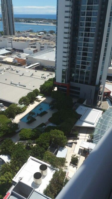 Another view at Tower One and the lifestyle pool below