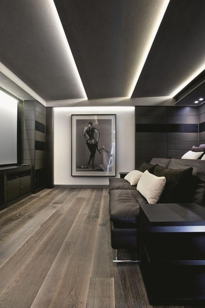 Plafond tendu lumineux art contemporain plafond en bois - Faux plafond suspendu lumineux ...