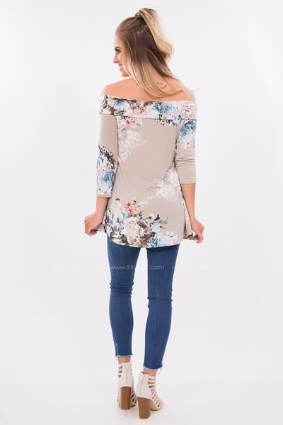 3022d53ea301 When you need that off the shoulder look that will really make a statement  this high quality floral top in mint will be your new favorite piece!