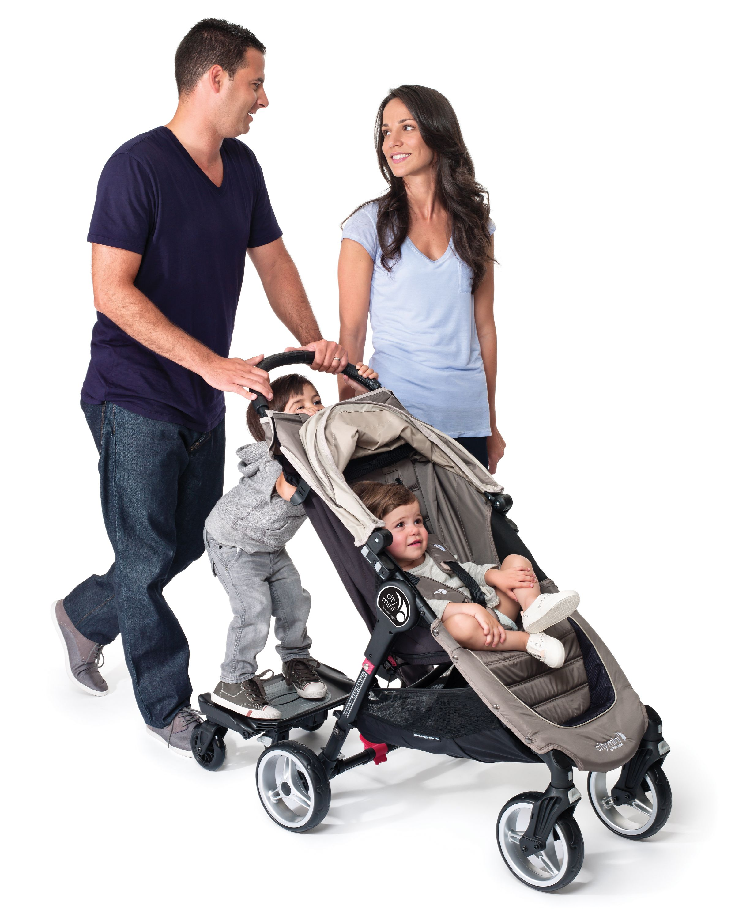 Baby Jogger Glider Board is a great way to let your older child hitch a ride It attaches easily to the rear axle of your stroller and has a non slip