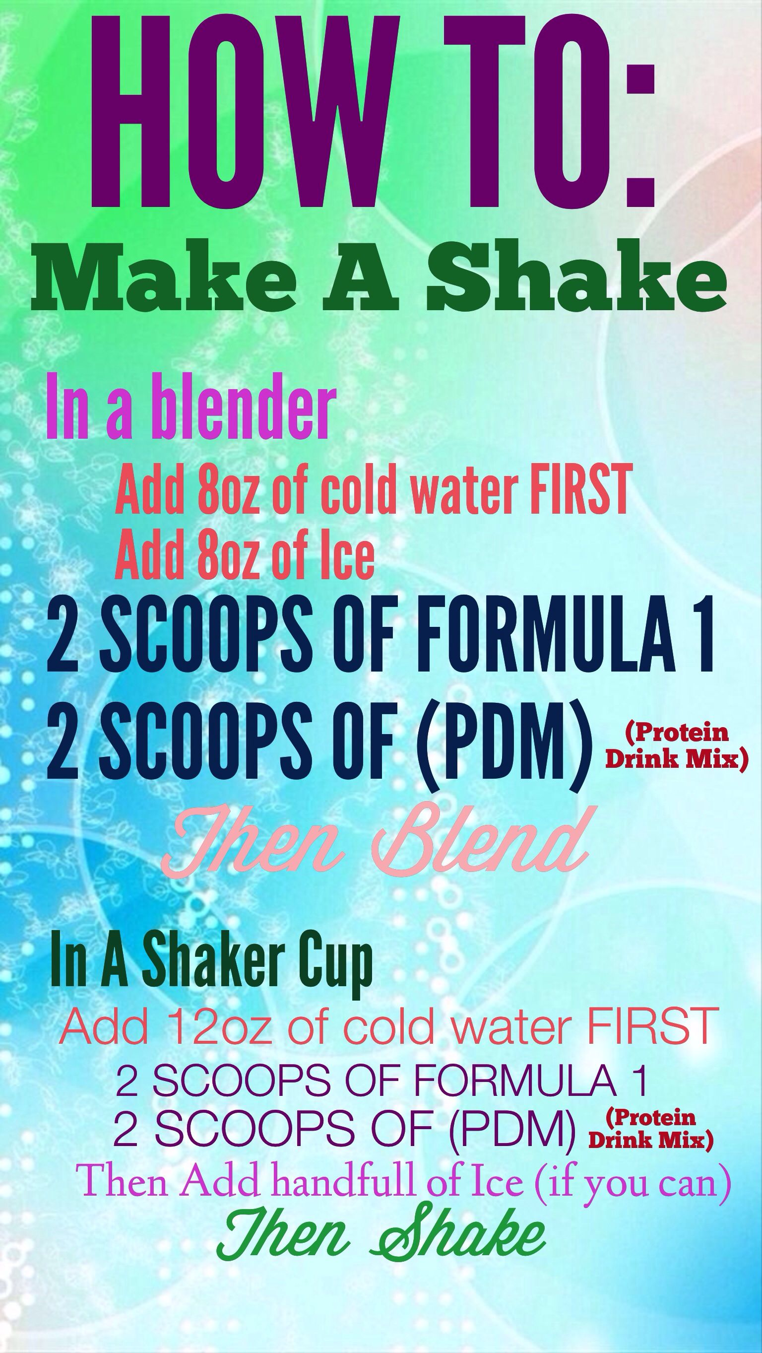 how to make your herbalife shake    email me for more info