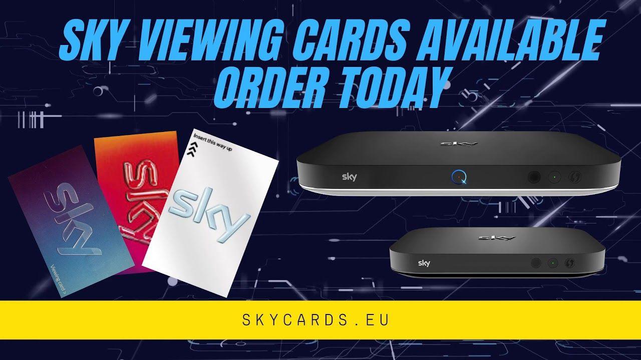 Sky Viewing Cards Order Today 1 In 2020 Sky Cinema Sky Tv Sky Q
