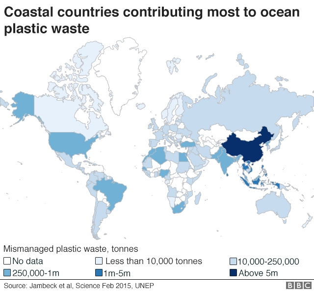 Ocean plastic a planetary crisis un world map showing coastal countries which contribute most to plastic waste in oceans gumiabroncs Image collections