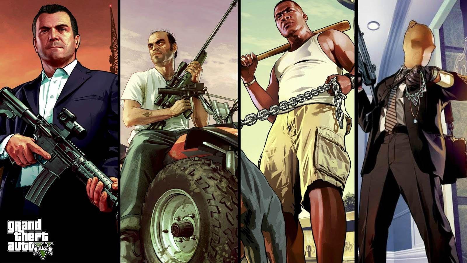 Grand Theft Auto V HD Wallpapers Backgrounds Wallpaper 1920x1080 Gta