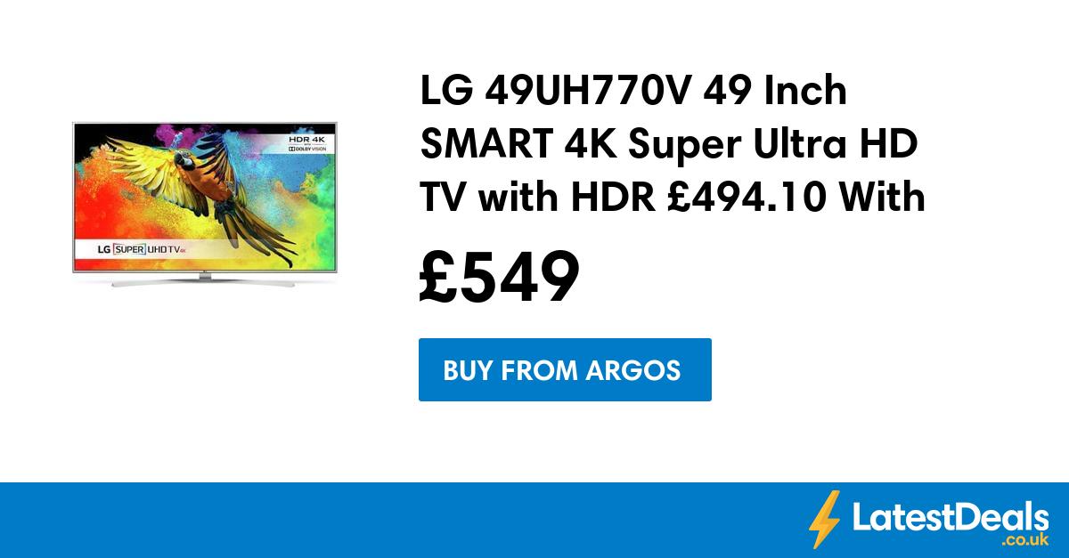 LG 49UH770V 49 Inch SMART 4K Super Ultra HD TV with HDR £