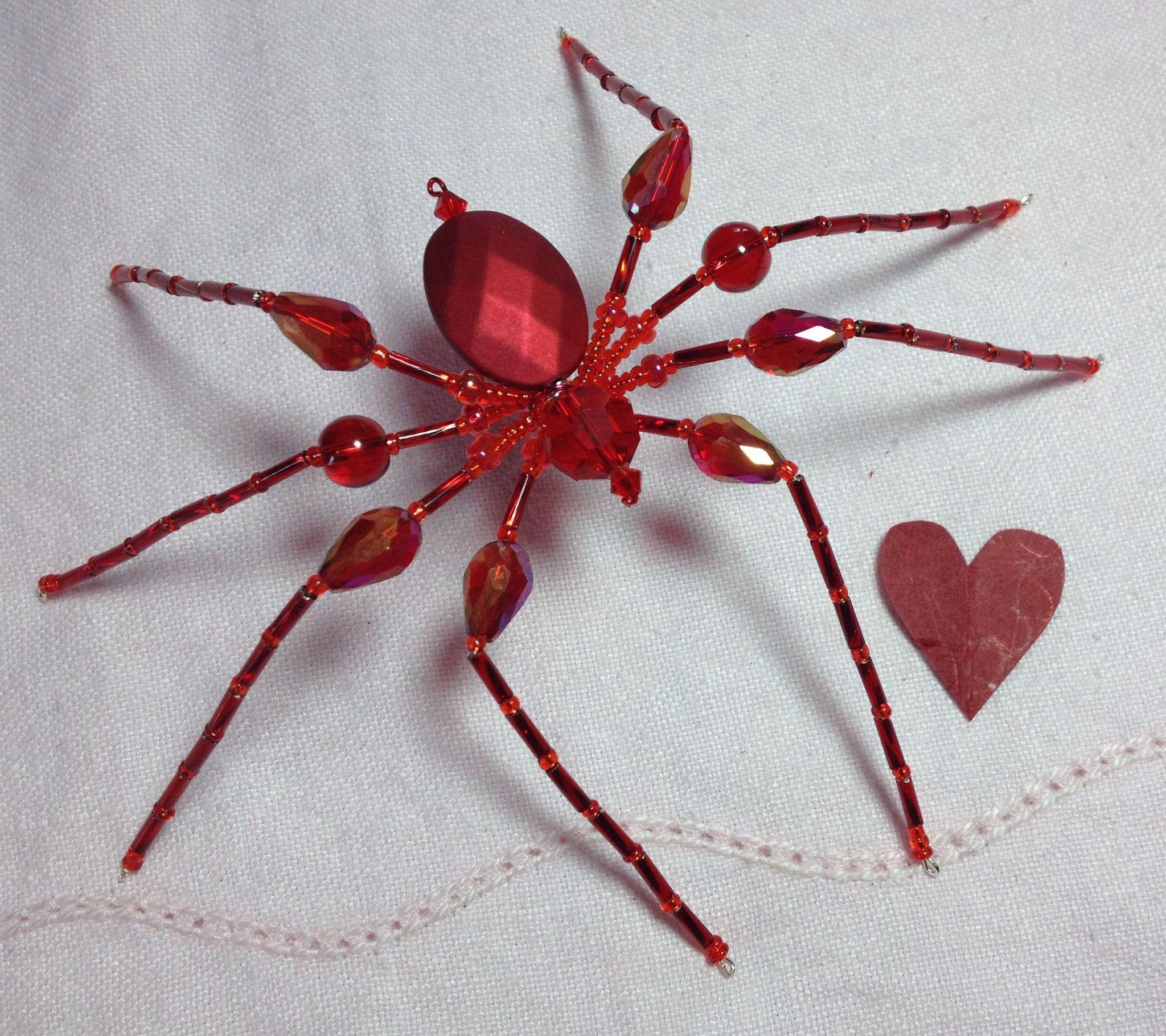 Valentine Spider ❤ | Beaded Creatures | Pinterest | Perlen, Draht ...