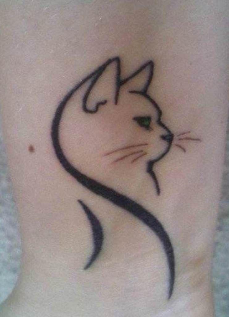 Simple Cat Tattoo Cute Tattoo Design Cat Tattoo Simple Cat Tattoo Small Cute Cat Tattoo