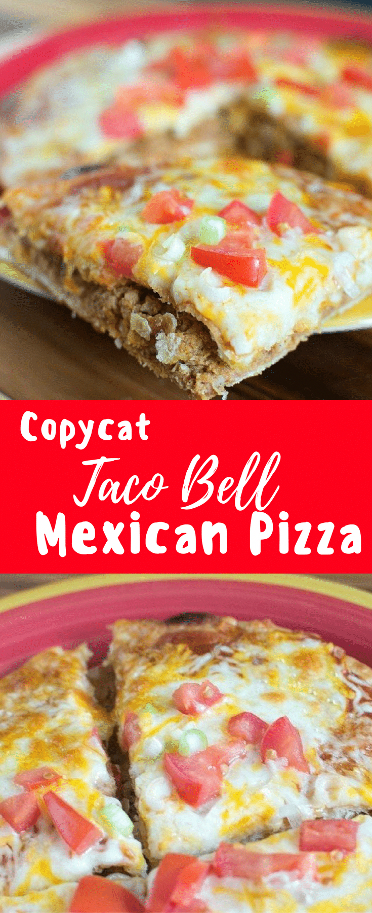 Photo of Copy cat Taco Bell Mexican Pizza Recipe / Mexican Pizza / Co…