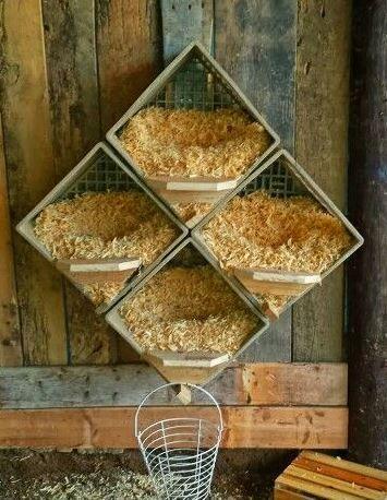 Les pondoirs pour poules fait maison homesteader tips ideas p - Maison pour les poules ...
